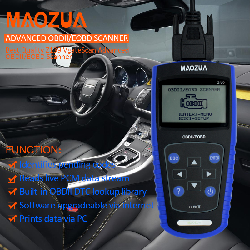 Auto Scan Tool MAOZUA Z139 OBD2 EOBD Scanner Automotive Auto Diagnostic Tool Scaner better than VGATE VS600 ELM327 MS509 opel tech 2 com obd2 eobd auto diagnostic tool