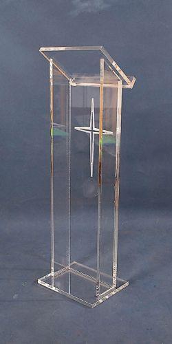 Möbel Gerade Maßgeschneiderte Acryl Podium Kanzel Rednerpult Podium Acryl Harmonische Farben