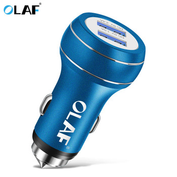 OLAF Dual 5V2A Car USB Charger For iPhone 6 7 X XS For Samsung Galaxy S9 S8 Xiaomi MI 8 a2 For Huawei p20 lite pro phone charger