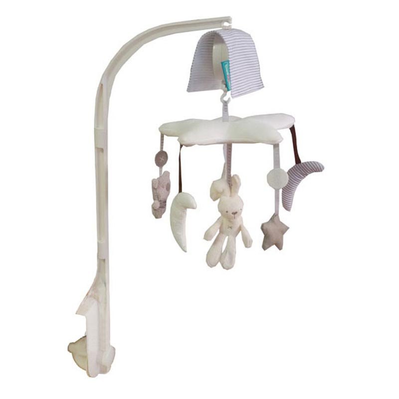 Baby Bassinet bell High Quality Baby Swing Toys Cradle And Bed With Music Rabbit Bell Help Newborn Sleeping Christmas gift bed cradle musical carousel by mobile bed bell support arm cradle music box with rope automatic carillon music box