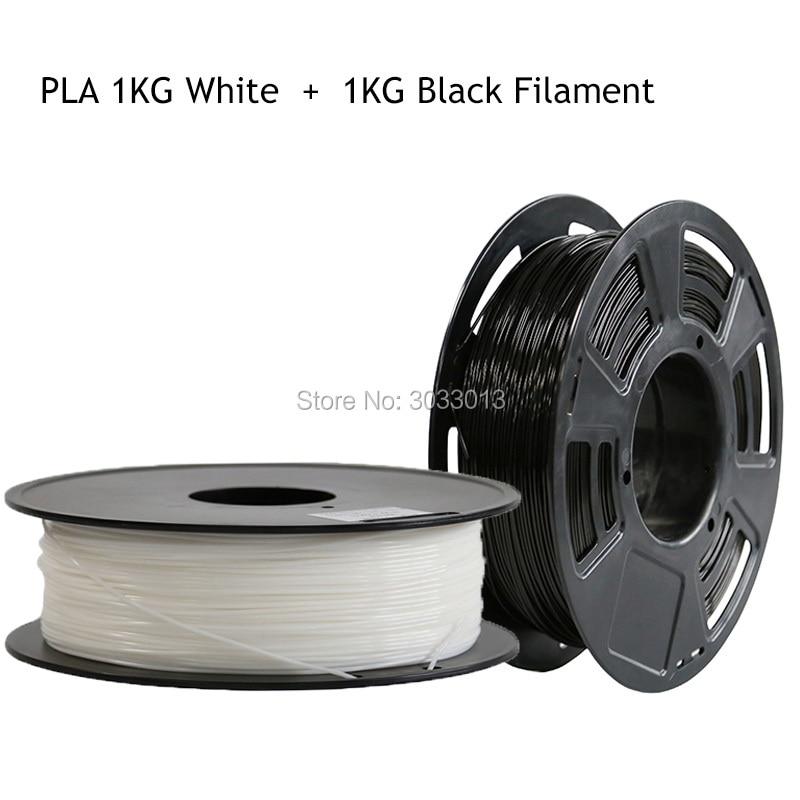 White/Black Color 3D Printer Filament 1.75 mm PLA Materials 2KG for 3D Printer 1KG/Roll for 3D printer and 3D penWhite/Black Color 3D Printer Filament 1.75 mm PLA Materials 2KG for 3D Printer 1KG/Roll for 3D printer and 3D pen
