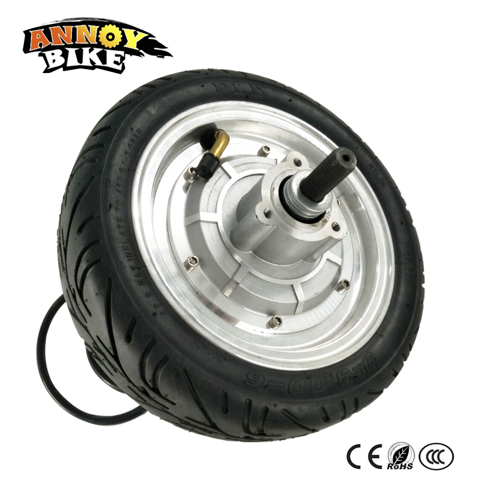 BLDC Hub Motor 9'' 36V 250-500W 300-800RPM With Hall Sensor And EBS Function & Forward/Reverse Gear-less Motor for Ebike Scooter 4inches bldc hub motor with tyre hall sensor and eabs function enable for electric scooter ebike motorycle front or rear driven