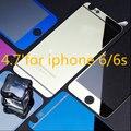 Frente + voltar espelho de vidro temperado protetor para iPhone 6 4.7 ' protetor de tela colorida filme placa