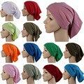 Islámica Musulmán Underscarf Hijab Pañuelo en La Cabeza de la Mujer de Algodón Cubierta pinkpurple Headwrap Capó moda 2017 blanco rosa gris azul etc