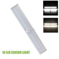 10 led اللاسلكي pir السيارات استشعار الحركة ضوء ذكي محمول الأشعة مصباح التعريفي أضواء الليل ل فندق خزانة خزانة