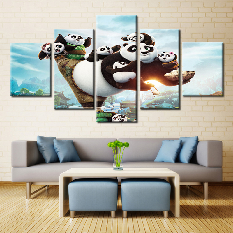 Science Fiction Film Poster Print On Canvas Wall Art Painting Cool Room  Decor Customized 5 Panel