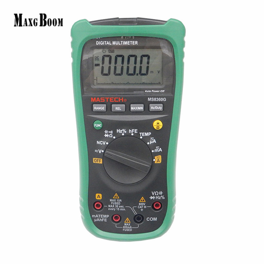 New MASTECH MS8360G Auto Range Digital Multimeter ohm voltage current Capacitance Frequency Temperature Meter (upgrade MS8260G) купить в Москве 2019