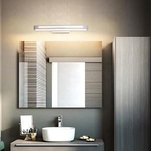 Image 4 - 현대 led 벽 램프 욕실 조명 LED 미러 빛 방수 400 700Length AC85 265V 아크릴 벽 램프 욕실 조명