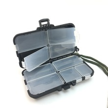 Fishing Tackle Box Fly Fishing Box Spinner Bait Minnow Popper 9 Compartments Fishing Accessories