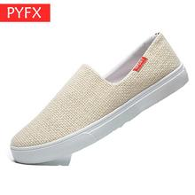 Summer 2019 New Mens  Cloth Trend Korean Flax Flat Bottom Leisure Odor-proof loafers White Sneakers Canvas Shoes discount