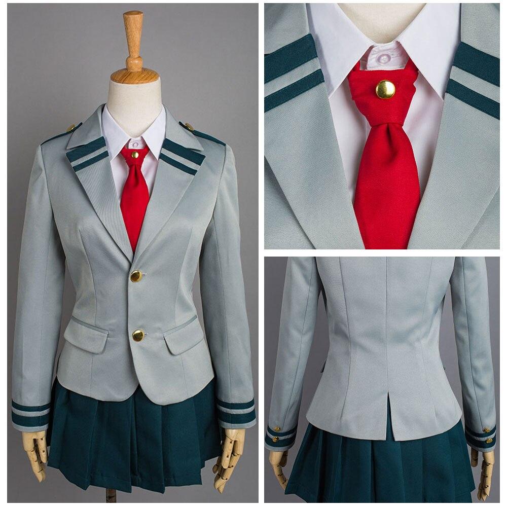 Boku no My Hero Academia Ochako Cosplay Costume Girl's School Uniform Dress Suit