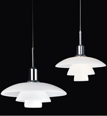 Modern Simple Loft Glass Skirt Pendant Lamp PH 3/2 Glass Louis White E27 bulb Pendant Light Home Deco Dining Room Light Fixture
