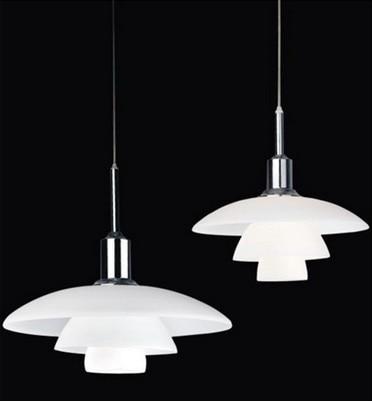 Modern Simple Loft Glass Skirt Pendant Lamp PH 3/2 Glass Louis White E27 bulb Pendant Light Home Deco Dining Room Light Fixture
