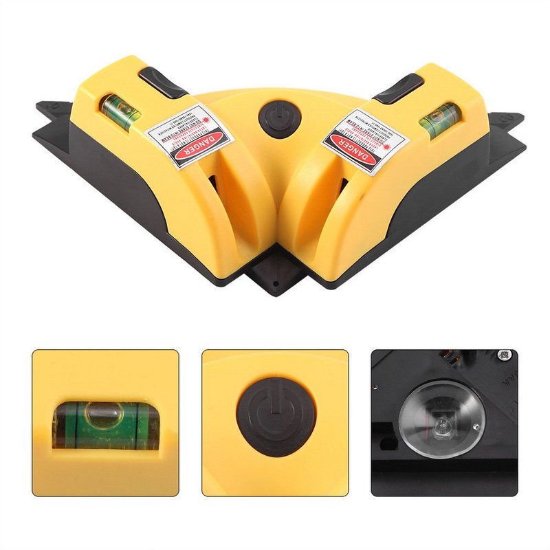 Right angle 2 Line Red Laser Level Meter 90Degree Vertical and Horizontal Level Tool Laser Measurement Tool Level Laser