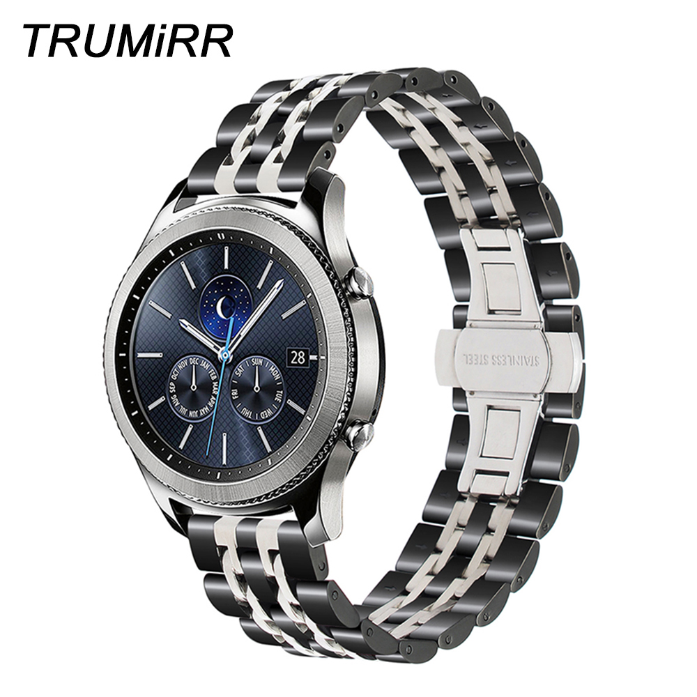 Stainless Steel Watchband 22mm for Samsung Gear S3 Classic Frontier Gear 2 Neo Live Watch Band Quick Release Strap Wrist Belt