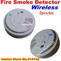 Новый беспроводной детектор дыма 433 для аварийной системы домашней безопасности, Бесплатная доставка беспроводной датчик дыма огонь 2 шт./лот