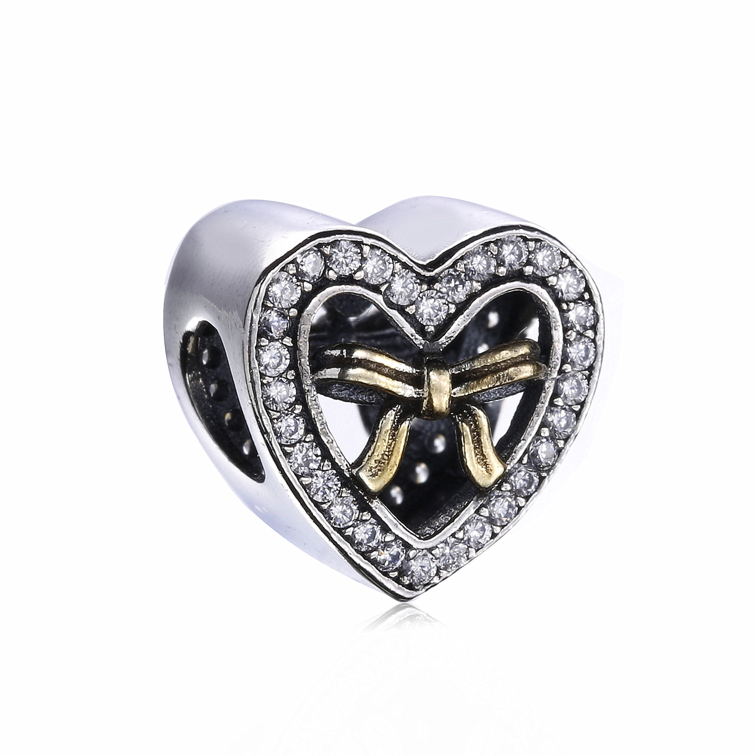 Authentic 925 Sterling Silver Bound By Love Charm Beads Fit Original Pandora Bracelet Authentic Luxury Diy Jewelry Making