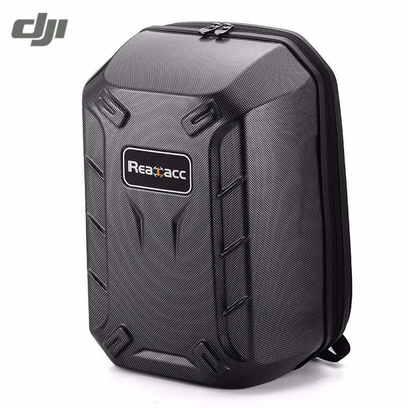 DJI Phantom 4 FPV Realacc Waterproof Hardshell Backpack Case Carbon Fiber Turtle Shell Suitcase Shoulder Bag Black rcyago safety shipping travel hardshell case suitcase for dji goggles vr glasses storage bag box for dji spark drone accessories