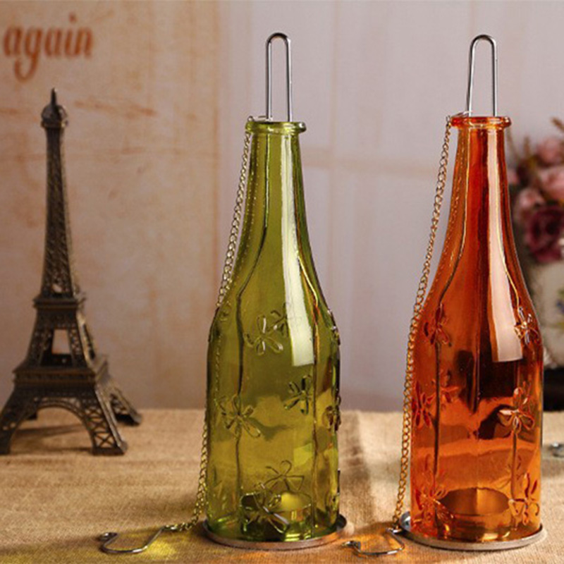 Eco friendly Recycle Wine Bottle Tealight Candle Holder Glass ...