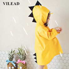 VILEAD Cute Dinosaur Polyester Baby Raincoat Outdoor Waterproof Rain Coat Children Impermeable Poncho Boys Girls Rain Jacket(China)