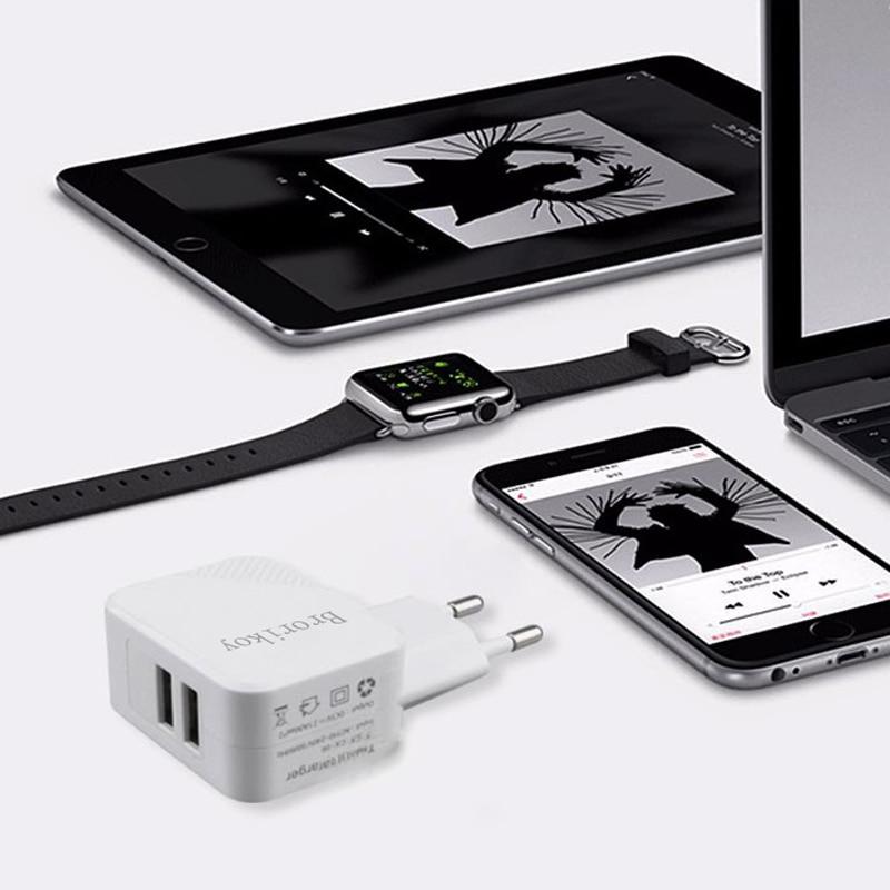 2 Port USB Wall Charger Untuk Perangkat iPhone iPad Samsung ios Micro - Aksesori dan suku cadang ponsel - Foto 3