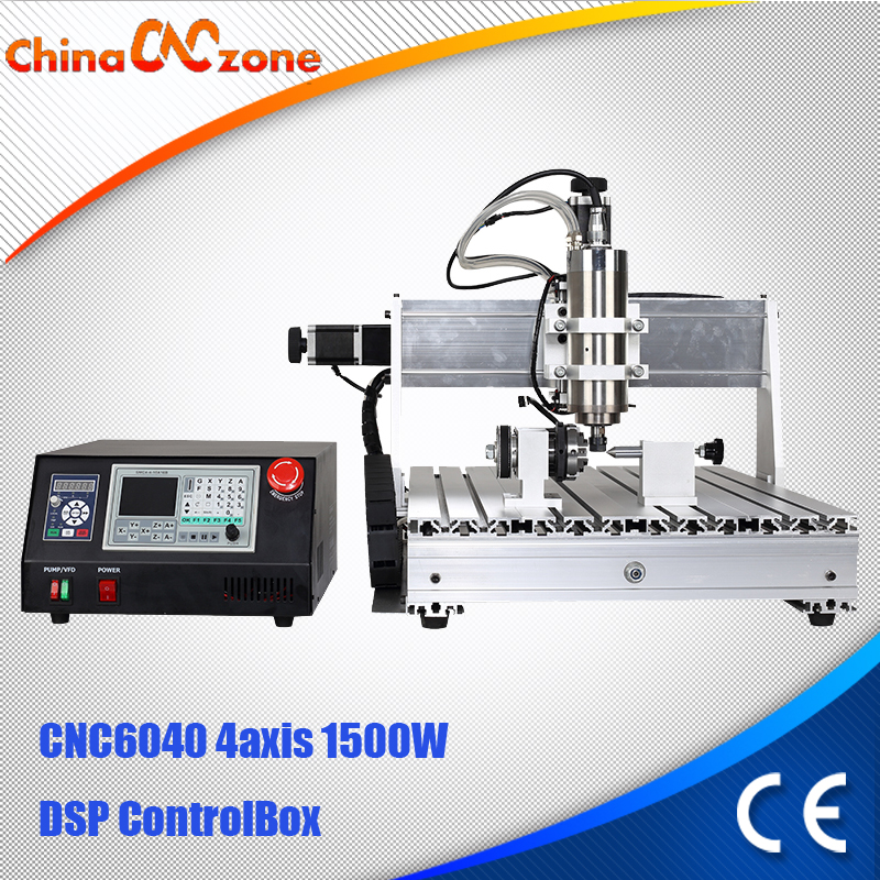 1.5KW DSP Control System CNC 4axis 6040 Router Engraving Drilling Milling Machine mini CNC wood working machine water cooling mini cnc engraving machine for sale 6090 mach 3 control system