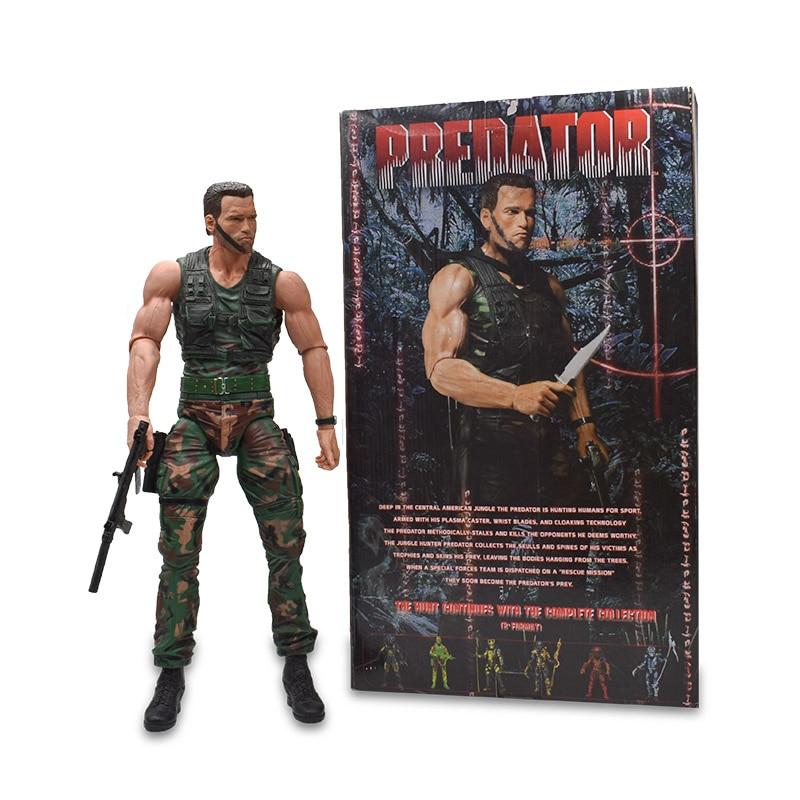 Arnold Schwarzenegger 1/4 Scale Predator Action Figure PVC Terminator Figure Collectible Model Toy Christmas Gift For Children the terminator t 800 arnold schwarzenegger pvc action figure collectible model toy 7 18cm kt1726
