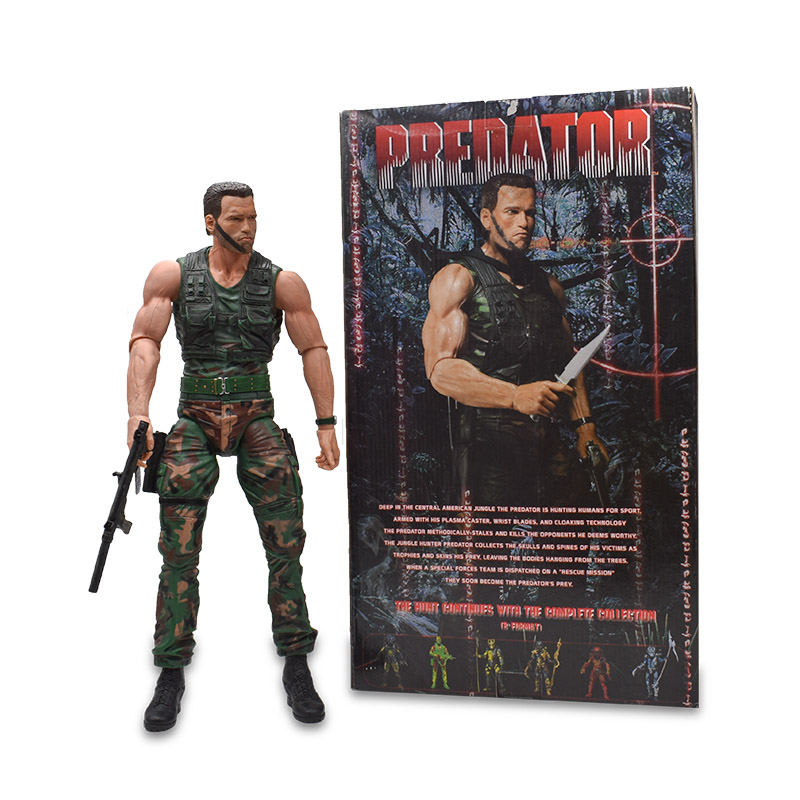 Arnold Schwarzenegger Scale Predator The Terminator Action Figure PVC Figure Collectible Model Toy Christmas Gift For ChildrenArnold Schwarzenegger Scale Predator The Terminator Action Figure PVC Figure Collectible Model Toy Christmas Gift For Children