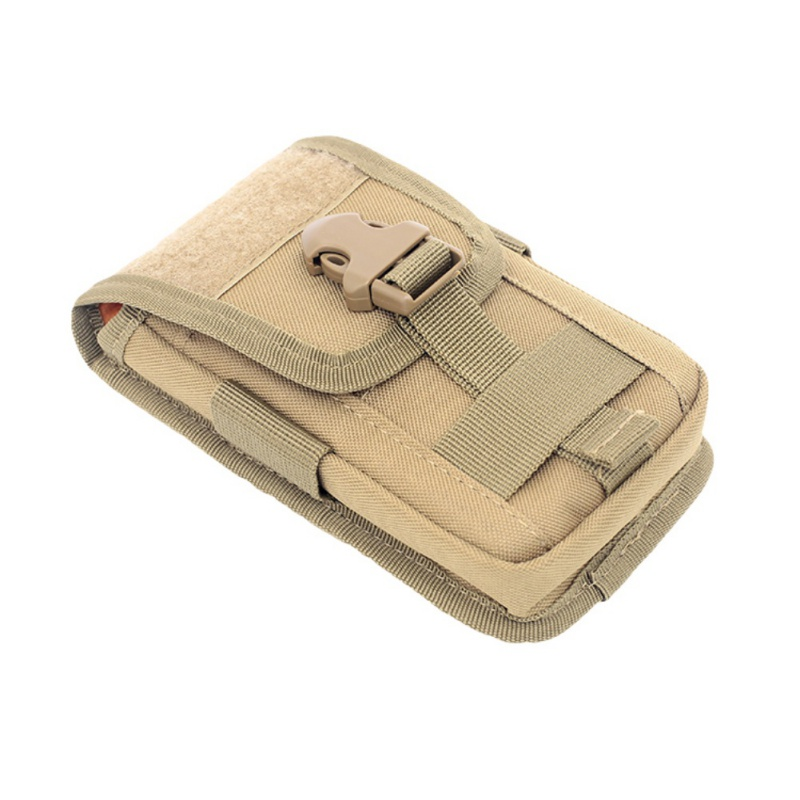 Outdoor Tactical Molle Belt Multi-function Mini Waist Bag Phone Holster Card Carrier Bag Hook Loop Travel Bag Pack image