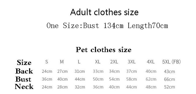 Family Cute Clothes for Cats and Owners