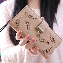 Женский Длинный кошелек, Дамский кошелек с пряжкой, однотонный клатч, держатель для карт, универсальная сумочка Cartera Mujer