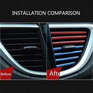 Image 4 - Tira decorativa para rejillas de ventilación Interior de coche, bricolaje, en forma de U, para Chevrolet Cruze Orlando Lacetti Malibu Volt Camaro