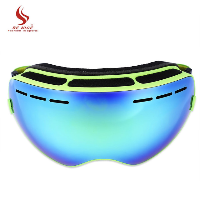 Benice Double Lens UV400 Anti-Fog Big Spherical Skiing Glasses Snow Goggles Skiing Eyewear Snowboarding Goggle Ski Sport