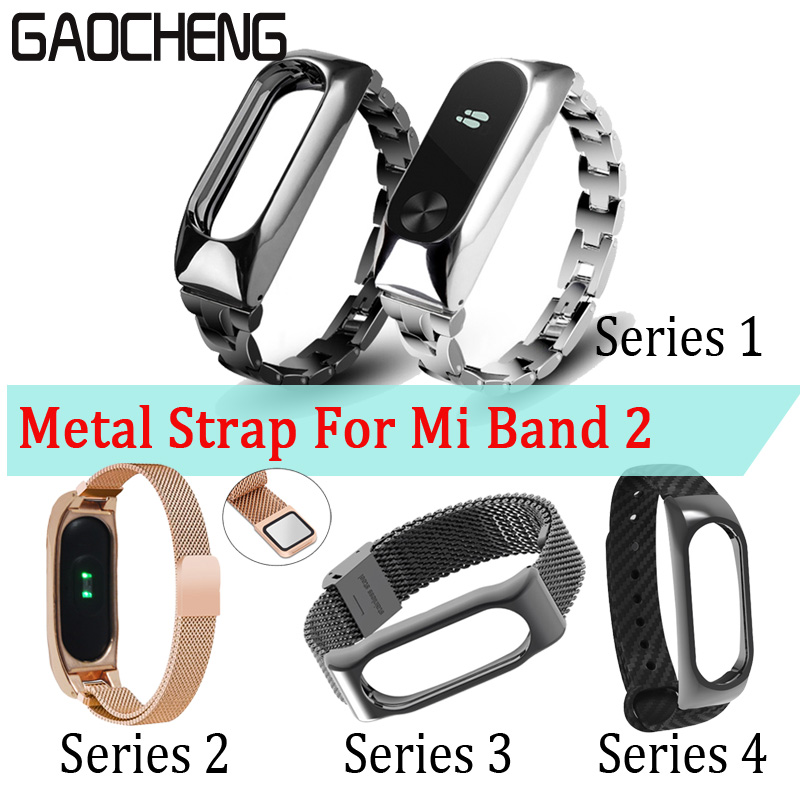 4Series Miband 2 Strap Metal Screwless Bracelet for Xiaomi Mi Band 2 Bracelet Strap Correa Xiomi Mi Band 2 Belt Steel Pulseira original xiaomi steel net watch band for miband