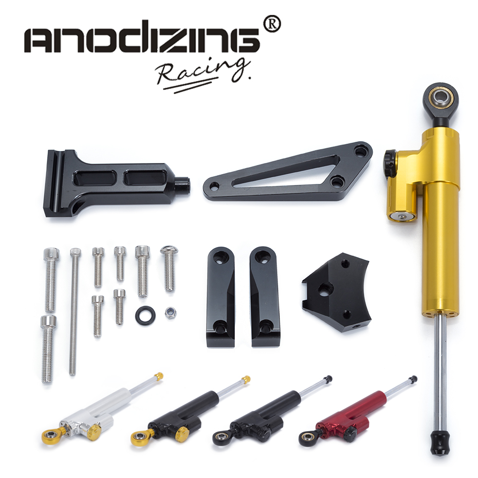 Motorcycle CNC Steering Damper Stabilizerlinear Reversed Safety Control with Bracket For HONDA CB1300 2003-2011 2010 2009 gt motor motorcycle cnc steering damper stabilizerlinear reversed safety control with bracket for yamaha mt09 mt 09 fz 09 13 17