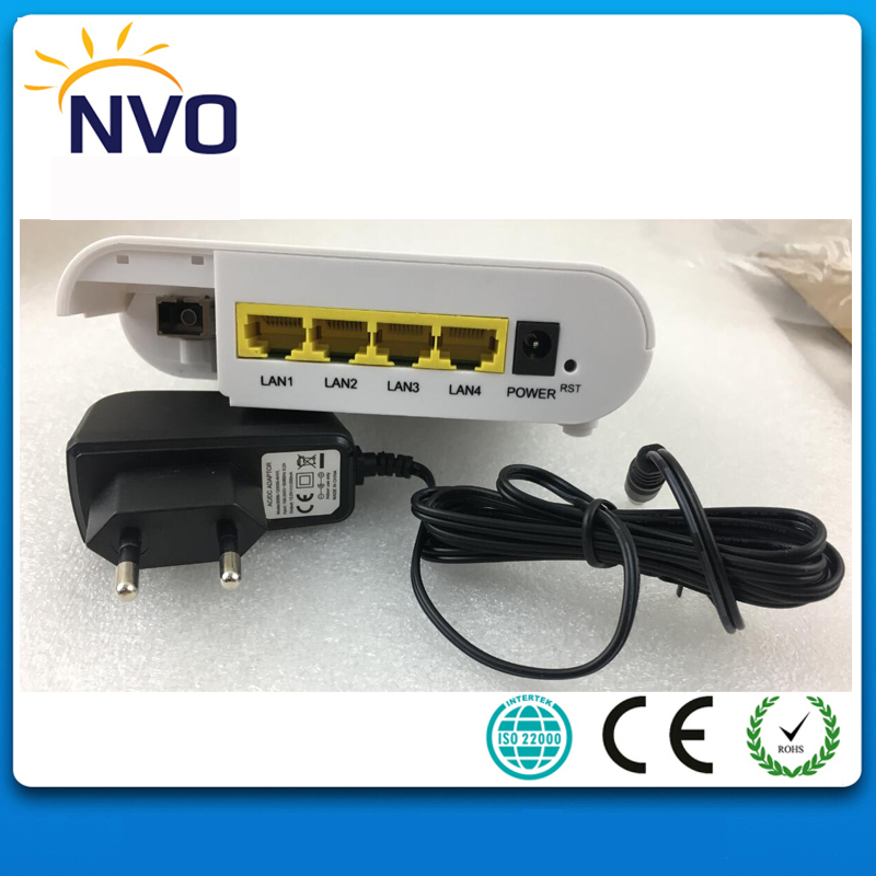Humor Ftth Epon Onu 4ge(10/100/1000mbps) Fast Ethernet Port Eu Charger Cortina Chip Wireless Wifi Router With 4 Ports
