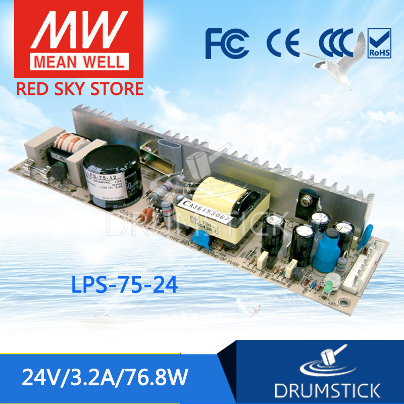 Selling Hot MEAN WELL LPS-75-24 24V 3.2A meanwell LPS-75 24V 76.8W Single Output Switching Power SupplySelling Hot MEAN WELL LPS-75-24 24V 3.2A meanwell LPS-75 24V 76.8W Single Output Switching Power Supply