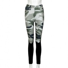 2017 New Autumn Pants Women Camouflage Print Pattern Slim Trousers Straight Casual Skinny Streetwear Leggings Bottoms 2009