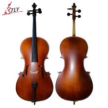 TONGLING High Quality Matt Cello 4/4 3/4 Natural Flamed Maple Ebony Fitted Professional Acoustic Musical Instruments