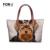 Forudesigns mulheres ombro sacos grandes bolsas de yorkshire terrier cão lobo cavalo cat impressão das mulheres saco 2017 bolsa feminina feminino