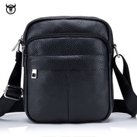 Fashion genuine Leather Men's Bags Brand Casual Business Crossbody Bags vintage High Quality New shoulder Bag for male designer Cross Body Bags