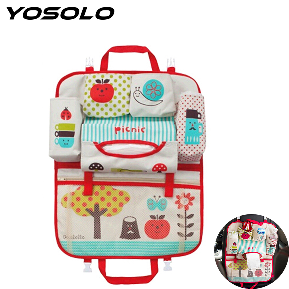 YOSOLO Storage Hanging Bag Universal for kids Carriage Baby Diaper Car Back Seat Organizer Mummy Bag