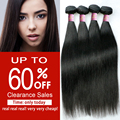 Clearance Sales Queen Hair Products 4 Bundles Brazilian Virgin Hair Straight Unprocessed Brazilian Straight Hair Remy Hair Weave