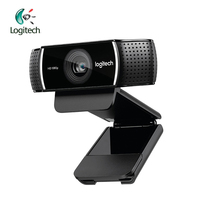 Logitech C922 Full HD 1080P WebCam 720P at 60FP Built in Mic Video Call Recording Background Switch Support Official Inspection