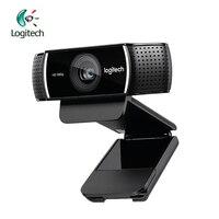 Logitech C922 Full HD 1080p веб камера 720 P на 60FP Встроенный микрофон Видеозвонок запись фоновый переключатель поддержка официального осмотра