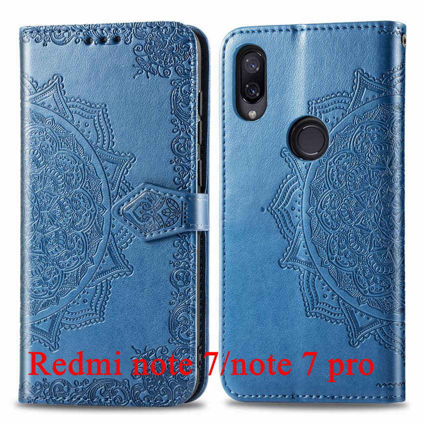 For Xiaomi Redmi Note 7 Pro case Book Style Wallet Flip Leather silicone back capa For Redmi Note7 Note 7 Screen Protector funda