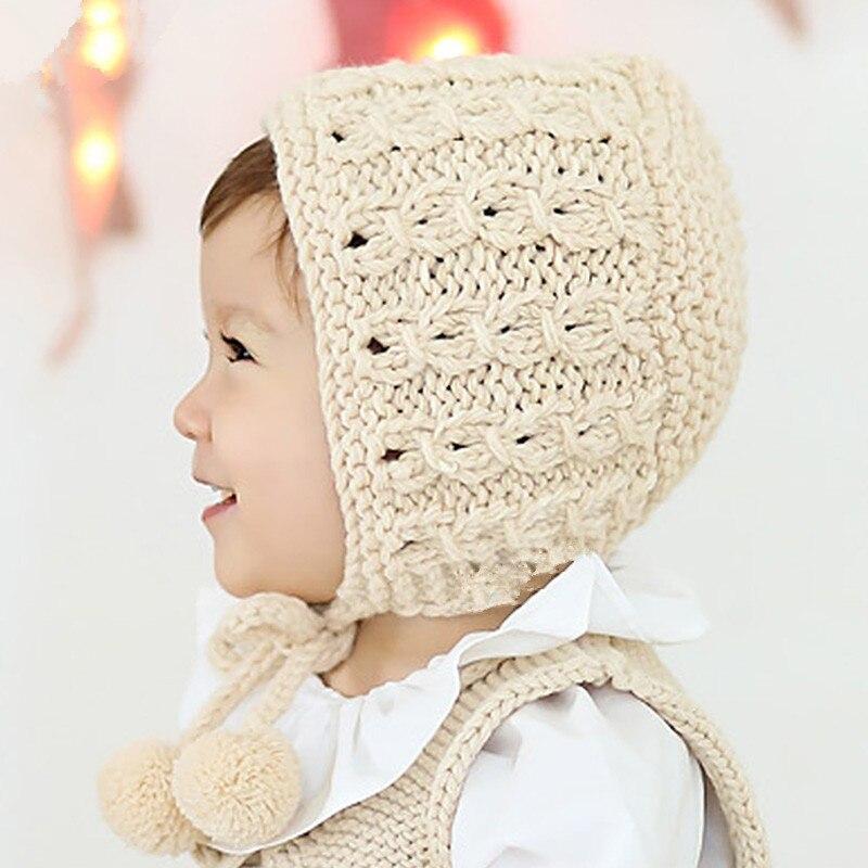 ᗑ】Hecho a mano la boina tejida sombrero recién nacido fotografía ...