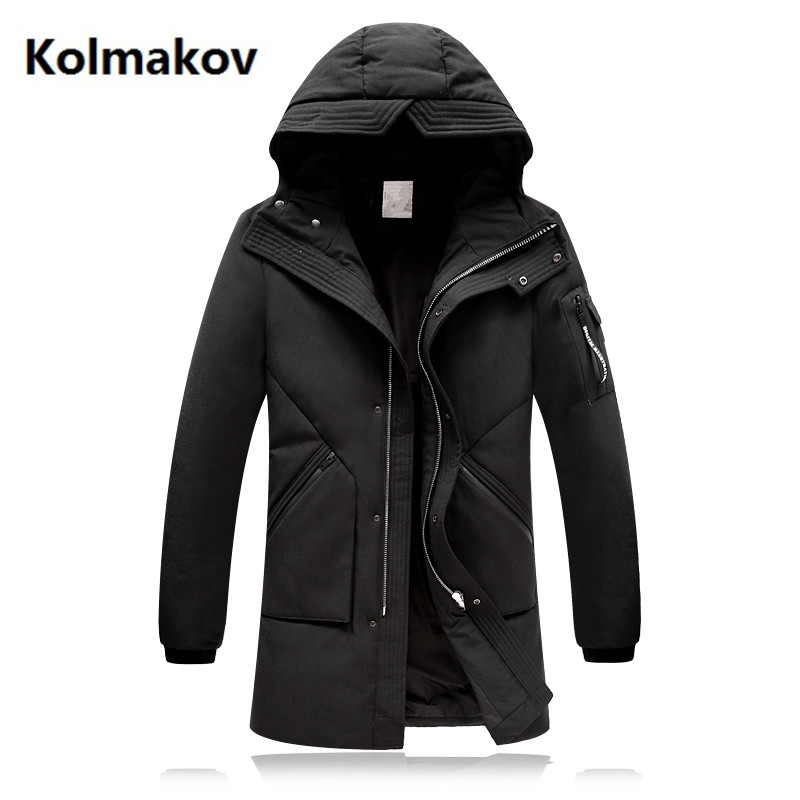 Free shipping 2017 winter 70% white duck down mens fashion classic Down jacket men Hooded winter jackets mens down coats