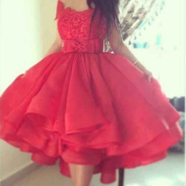 De Encaje rojo de Las Mujeres de la Señora Vestido vestidos de Bola ...