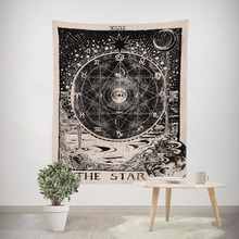 Divination psychedelic constellation Tapestry Sungod Abstract art home decor wall blanket myth witchcraft